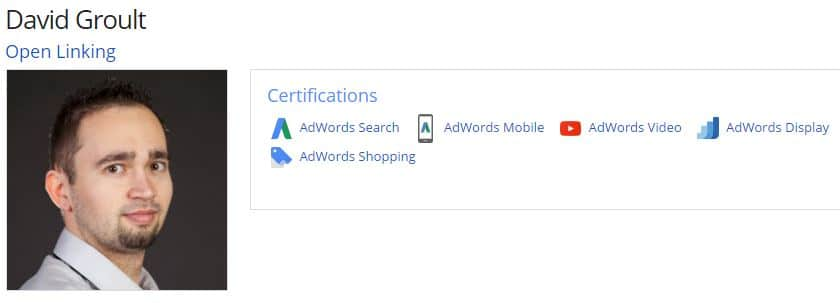 David Groult - Expert Adwords certifié Google Partners