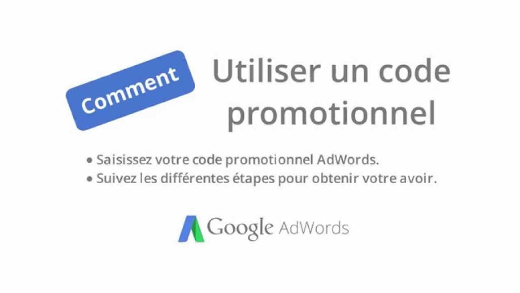 code promo adwords