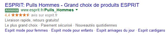 extension avis sur les marchands adwords
