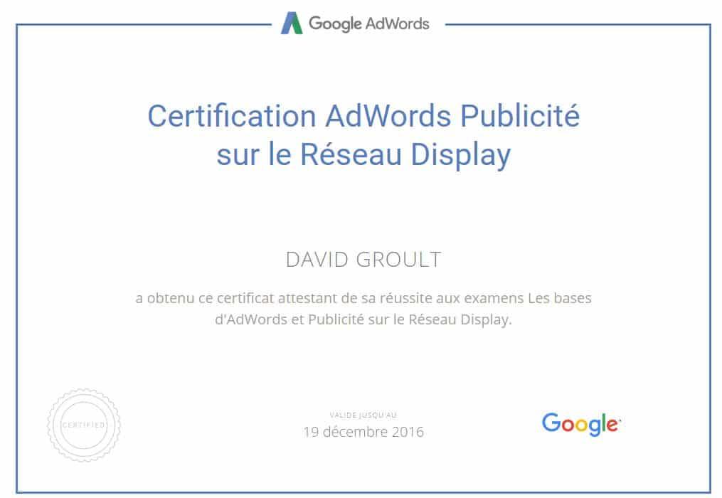 Display et Remarketing Adwords - David Groult
