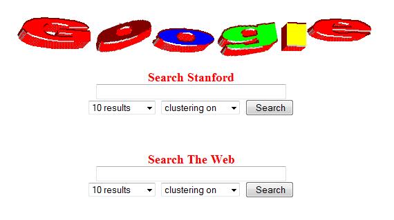 1er logo de google en 1997